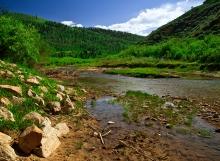 Gleaming Scofield Reservoir
