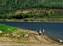 recreational fishing at Scofield Reservoir